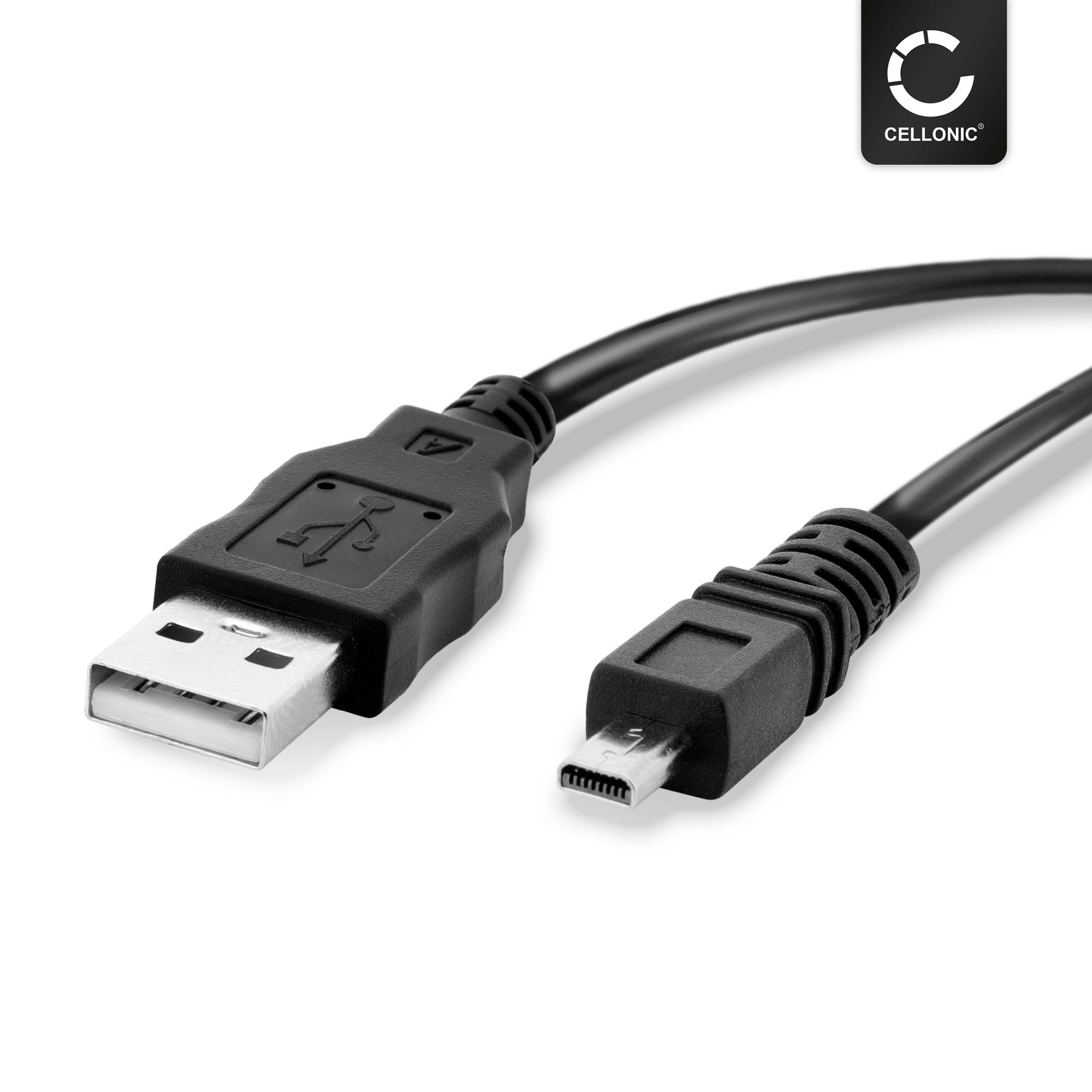 reemplaza k1ha08cd0019 1,5m USB cable de datos para Panasonic Lumix dmc-fz8