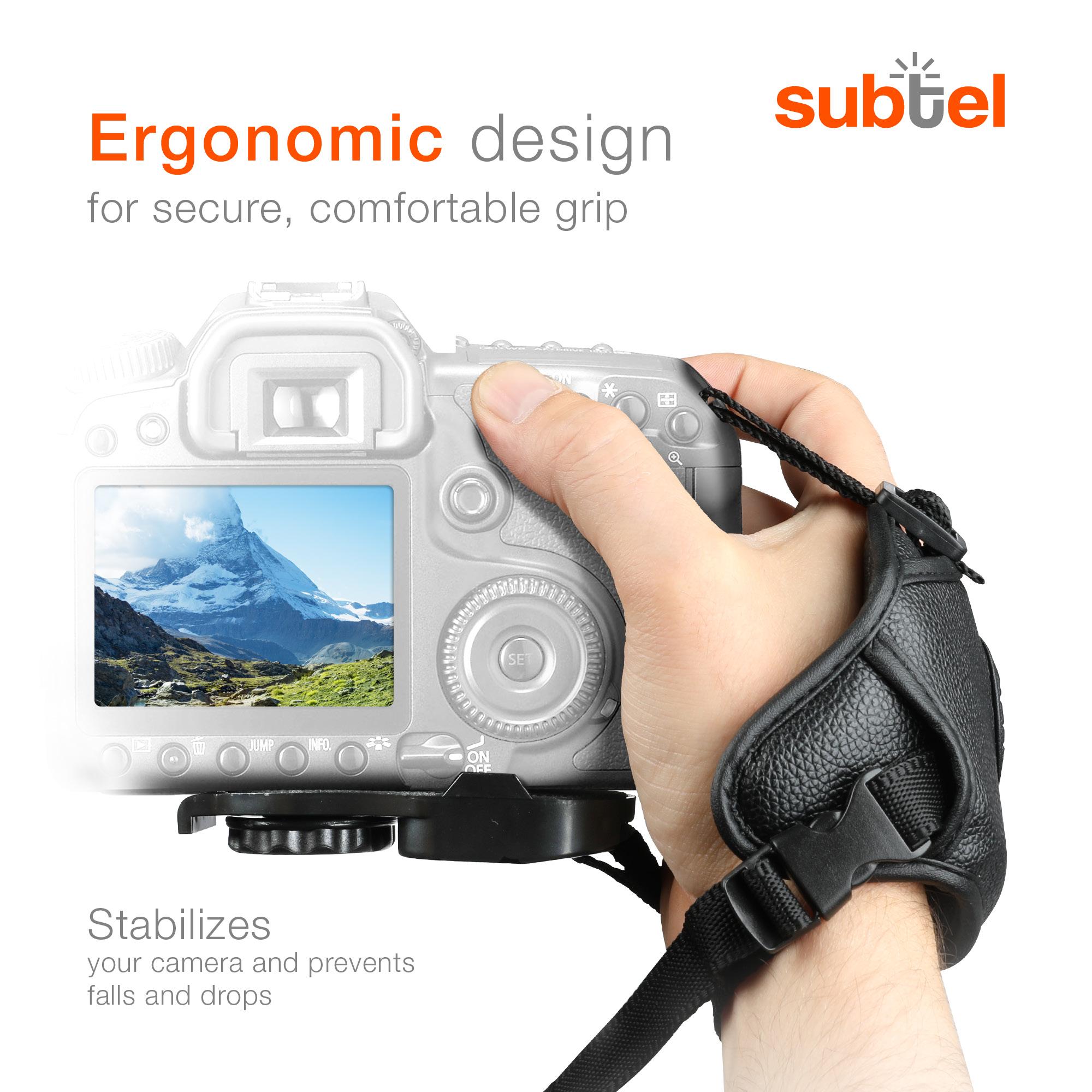 Correa de muñeca para Panasonic Lumix dmc-fz1000 PU Cuero mano cinturón Cinturón cámara