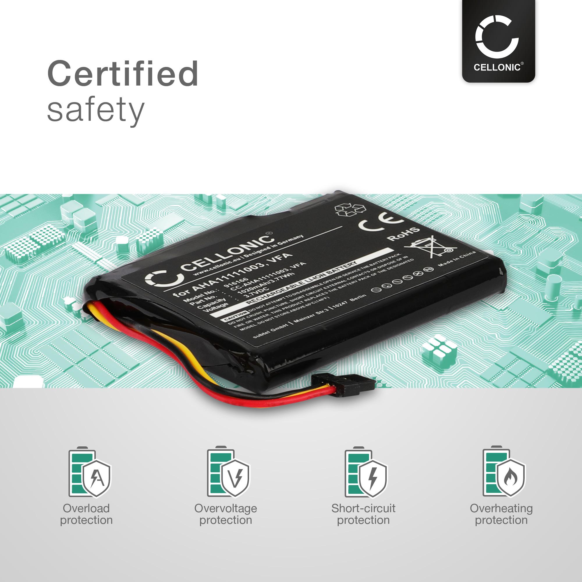 Batería de repuesto para TomTom GO Live 1005 navegación accu batería batería nuevo